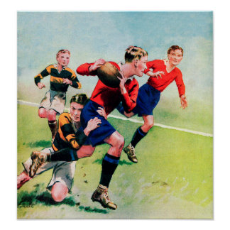 Vintage 1930's Rugby - Canvas Print