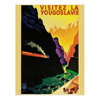 Vintage 1930s Visit Yugoslavia Tourist Travel Art Postcard