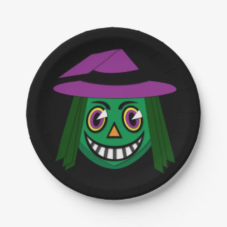 Vintage 1930's Witch Paper Plate