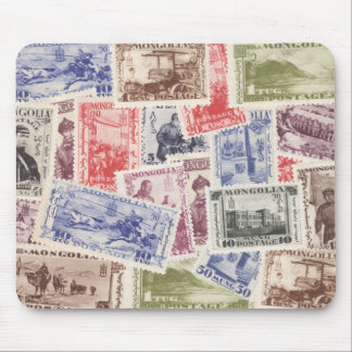 Vintage 1932 Mongolian postage stamps Mouse Pad
