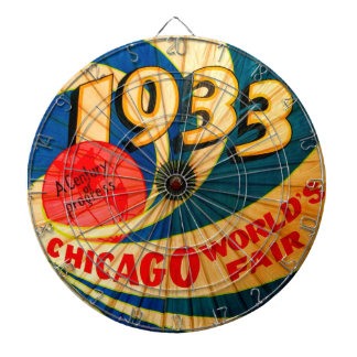 Vintage 1933 Chicago World's Fair Advertising Game Dartboard