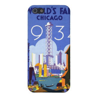Vintage 1934 Chicago World Fair Travel Poster iPhone 5 Covers