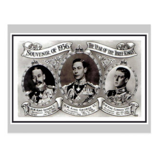 Vintage 1936 The year of the Three Kings Postcard
