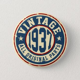 Vintage 1937 All Original Parts 6 Cm Round Badge