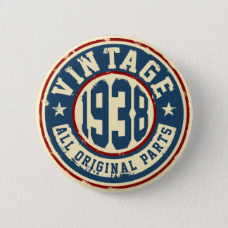 Vintage 1938 All Original Parts 6 Cm Round Badge