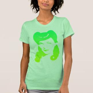 Vintage 1940 s Woman Lime Green Yellow Tshirts