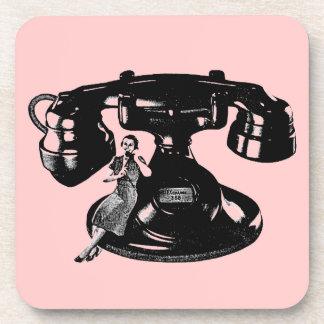 Vintage 1940 Telephone Ad Coasters