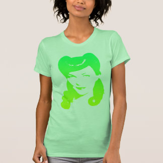 Vintage 1940's Woman (Lime Green & Yellow) T-Shirt