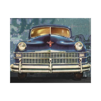 Vintage 1947 Chrysler Car Automobile, Canvas Print