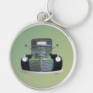 Vintage 1947 GMC Pickup Truck Key Ring Silver-Colored Round Key Ring