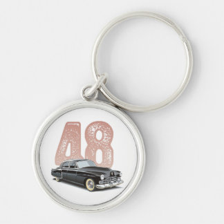 Vintage 1948 Cadillac Coupe: Black classic car Key Ring