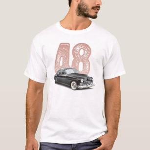 Vintage 1948 Cadillac Coupe: Black classic car T-Shirt
