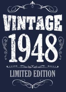 vintage 1948 funny 70th birthday saying t shirt