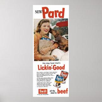 Vintage 1950s Ad Dog Food Poster