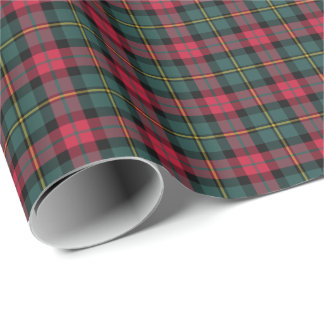 Vintage 1950s Christmas Plaid Pattern Wrapping Paper