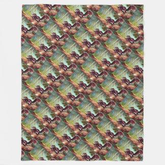 Vintage 1950s Woodland Squirrel Fleece Blanket