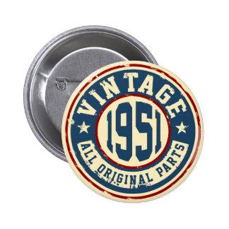 Vintage 1951 All Original Parts 6 Cm Round Badge