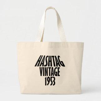 vintage 1953 designs large tote bag