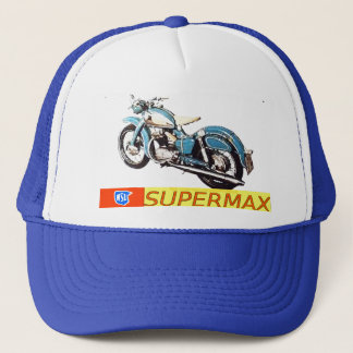 """Vintage 1953-NSU SUPERMAX Motorcycle Ad"" Trucker Hat"