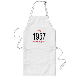 Vintage 1957 Aged To Perfection 60 Birthday Party Long Apron