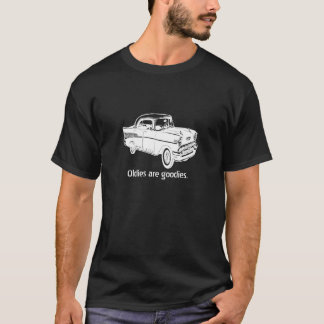 Vintage 1957 Chevrolet white drawing on dark T T-Shirt