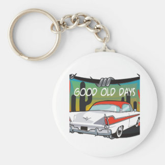 Vintage 1957 Plymouth Basic Round Button Key Ring