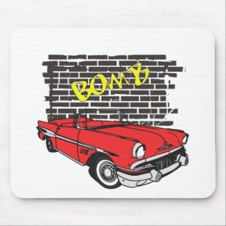 Vintage 1957 Pontiac The Bomb Grafitti Mouse Pad