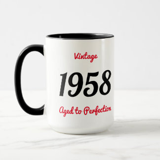 Vintage 1958 Aged To Perfection 60 Birthday Party Mug