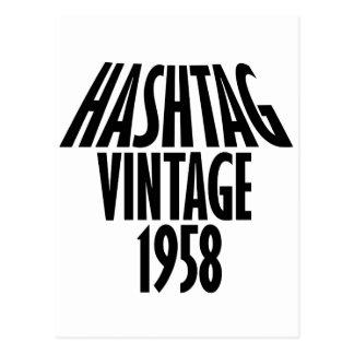 vintage 1958 designs postcard