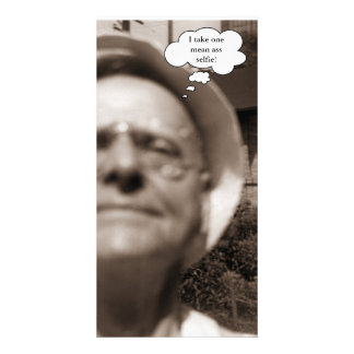 Vintage 1958 Old Man Takes Selfie Photograph Card