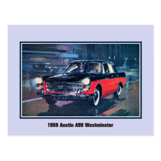 Vintage 1959 Austin A99 Westminster Postcard