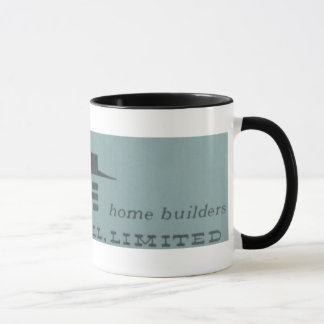 Vintage 1959 Curran Hall Home Builder Mug - blue