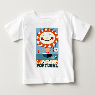 Vintage 1959 Portugal Seaside Travel Poster Baby T-Shirt