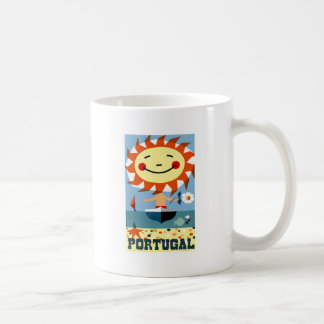 Vintage 1959 Portugal Seaside Travel Poster Coffee Mug