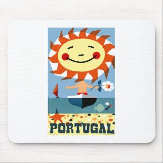 Vintage 1959 Portugal Seaside Travel Poster Mouse Pad