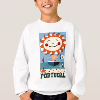Vintage 1959 Portugal Seaside Travel Poster Sweatshirt