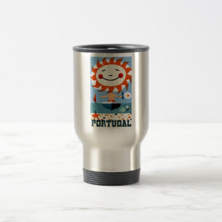 Vintage 1959 Portugal Seaside Travel Poster Travel Mug