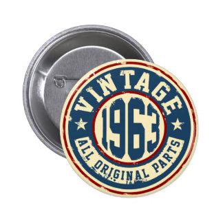 Vintage 1963 All Original Parts 6 Cm Round Badge