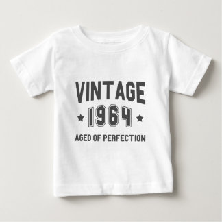 VINTAGE 1964 Birthday - Gray Fonts Baby T-Shirt