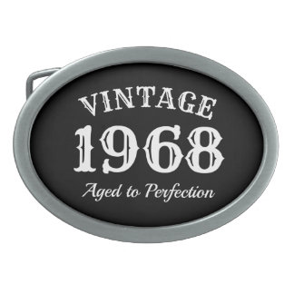 Vintage 1968 Aged to perfection 50th Birthday Oval Belt Buckle