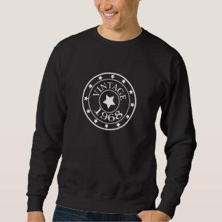 Vintage 1968 birthday year star mens sweatshirt