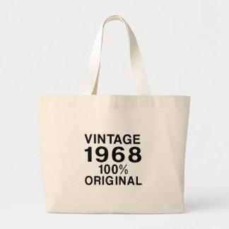 Vintage 1968 large tote bag