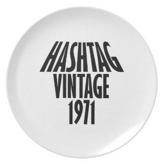 vintage 1969 designs dinner plates