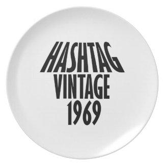 vintage 1969 designs party plates