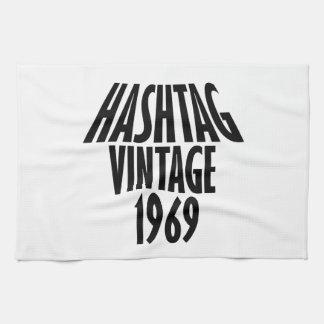 vintage 1969 designs tea towels