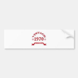 Vintage 1970 Aged to Paerfection Bumper Sticker