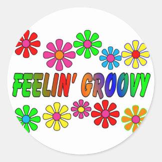 Vintage 1970 s Feelin Groovy gifts Sticker