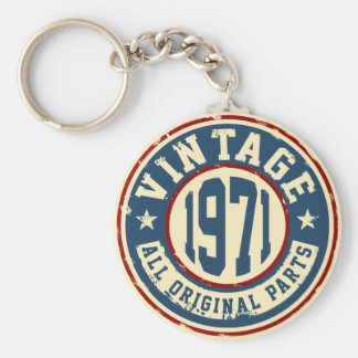 Vintage 1971 All Original Part Key Ring