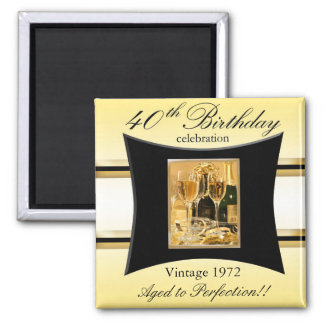 Vintage 1972 40th Party Favor Square Magnet