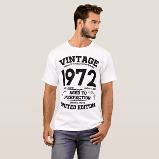 VINTAGE 1972  AGED TO PERFECTION LIMITED EDITION T-Shirt